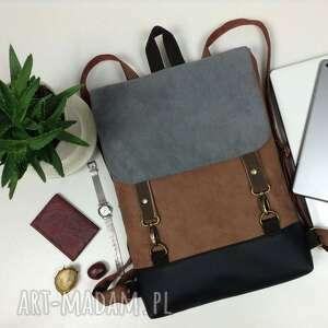 wegański plecak, damski mini plecak do pracy, na uczelnię