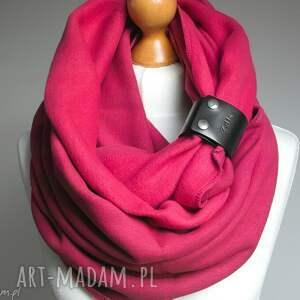 Prezent OBSZERNY komin zimowy z zapinką, pomysł na prezent dla NIEJ, różowy