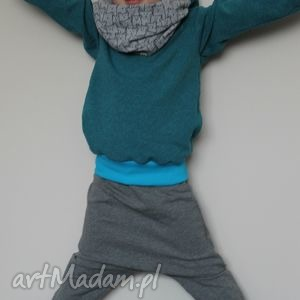 ubranka grafitowe baggy 104 - ninoola, spodnie, dresowe, dresówka, baggy