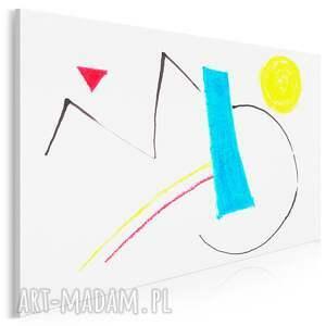 obraz na płótnie - miró abstrakcja kolorowy 120x80 cm 704003
