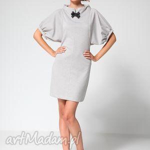 hand-made sukienki gray classic 38