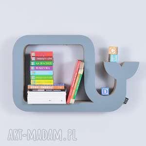 handmade pokoik dziecka półka na książki zabawki wieloryb ecoono | szary