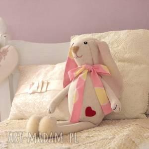 różo - beżowy króliczek, zajączek, dekoracja, dziecko, pokój, przytulanka