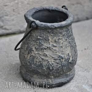 wazonik archeo - small, etno, archeo, ziemia, naturalny, stary