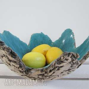 sardynia artystyczna miska, misa, ceramiczna, jak-skała, dekoracyjna ceramika