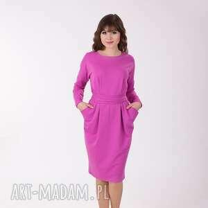 sukienki ida sukienka z kieszeniami, liliowa, rozmiar 38, ida