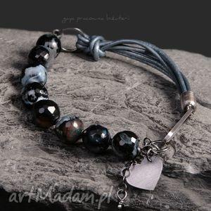 agat mozaika, agat, kule, skóra, srebro, oksydowane, prezent, prezent na święta
