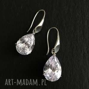 kolczyki z cyrkonią, srebro biżuteria ślubna, kolczyki, srebrne, srebro, ślubna