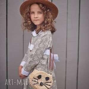 Sukienka Grey, sukienka, retro, vintage, bawełna, łączka, dziewczynka