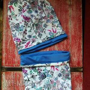 Ruda Klara. komplet wiosenny czapka na podszewce rozmiar
