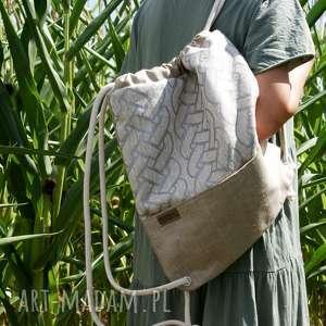 pod choinkę prezent, plecak len srebro, len, plecak, bio, eko, lato
