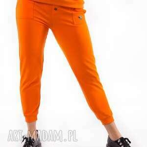 spodnie dresowe orange z nadrukiem 3 for, spodnie, płaszcz, bluza, sukienki