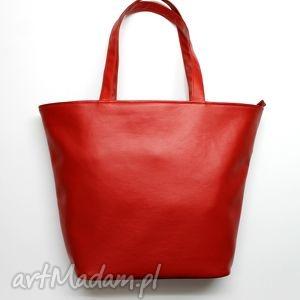 pomysł jaki prezent pod choinkę Shopper Bag Łódka - czerwony, elegancka, nowoczesna