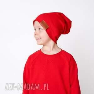 hand-made czapki czapka podwójna czerwona