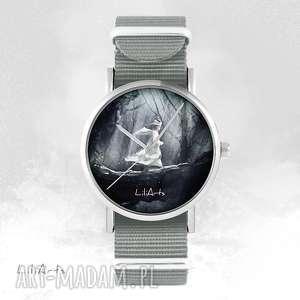 Prezent Zegarek, bransoletka - Magiczny las szary, nato, zegarek, bransoletka, nato