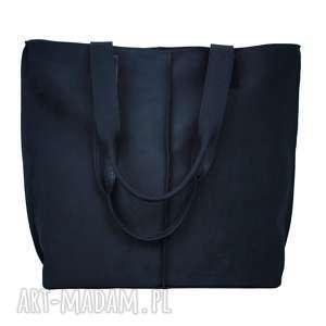 duża torba, worek z nubuku 2605, torebka, prezent, wygodna, torebki