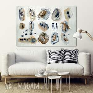 nowoczesna grafika do salonu drukowana na płótnie -pastelove labirynty - abstrakcja