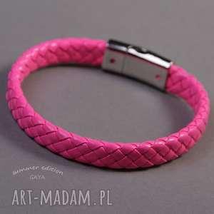 bransoletki laser pink, pasek, metalowe, neonowa, plecione, skóra, pod choinkę