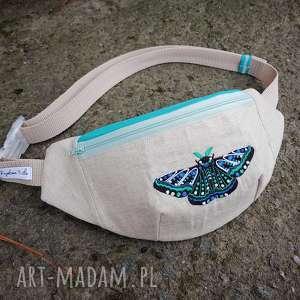 nerka animalia moth, nerka, len, lniana, haft, wegańska, vintage nerki