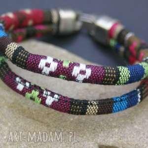 bransoletki bransoletka etno, bransoletka, boho, kolorowa, bawełniana, sznurek