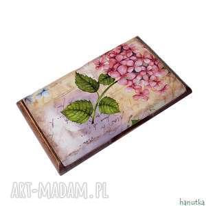 etui hortensje - wizytownik, na karty płatnicze, prezent, wizytówka
