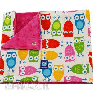 handmade dla dziecka komin dziecięcy, wzór sowy