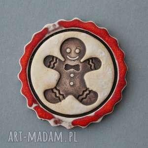 ręcznie zrobione prezent pod choinkę ciastek-magnes ceramiczny