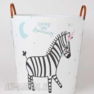 ogromny pojemnik z zebrĄ - zebra, pojemnik, szyte, bawełna, dziecko