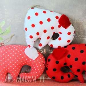 trio słoników - makowe - słonik, gwiazdka, walentynki, miłość