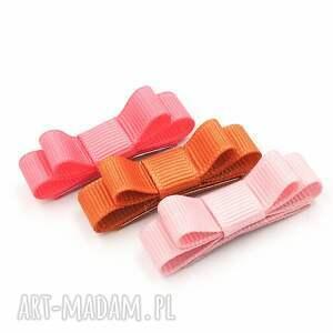 spineczki mini kokardki florence pink, do włosów, kokardki, pierwsze