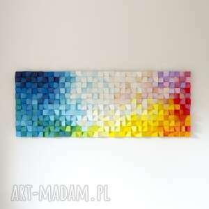 mozaika drewniana, obraz drewniany 3d dyfuzja_4, modern, natural, drewno