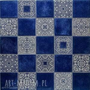 kafle mix ciemnoniebieski, 25 sztuk, kafle, dekory, kafelki, płytki, ścienne