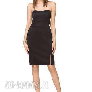 Ołówkowa sukienka mini na gorsecie T241, czarna, sukienka, elegancka, ołówkowa,