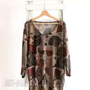 tuniki afrykańskie rytmy tunika, etno luzna, folk boho tunika