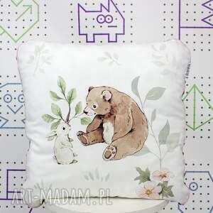 pokoik dziecka poduszka słodki miś 46x46, jasiek, minky