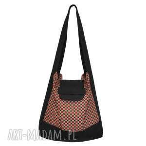 01-0011 Wielobarwna torba worek na zakupy HUMMING-BIRD MAXI, duże-torebki-worki