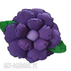 poduszki poduszka dekoracyjna kwiatek we fiolecie, kwiat