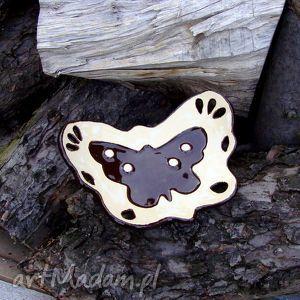 Jesienny motyl - mydelniczka, łazienka, mydło, mydełko, motyl, motylek