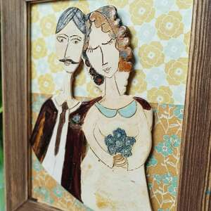 obraz ceramiczny mozaika prezent na 10 rocznicę ślubu, dekoracja domu