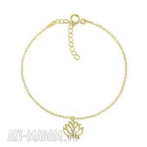 święta prezent, bransoletki celebrate - lotus bracelet, lotos, celebrytka