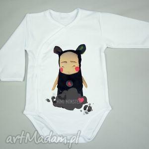 mimi monster body czyłe serce - prezent dla niemowlaka, bluzeczka, koszulka