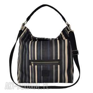 Prezent Worek XL z kieszonką w paski, torba, torebka, torba-na-ramię, duża-torba
