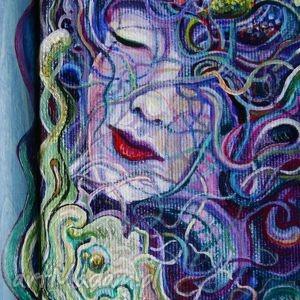 dyptyk siostry, kobieta, portret, obraz, dyptyk, ornament, fantastyka