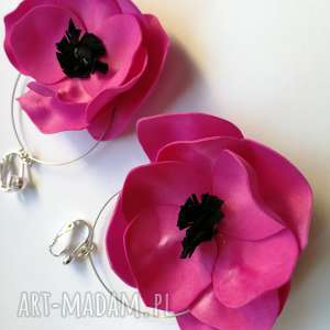 hand-made klipsy lekkie boho kwiaty orient