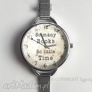 ręczne wykonanie zegarki so many books - zegarek z dużą tarczką 0920ws