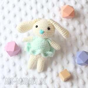 handmade zabawki króliczek zosia miętowy
