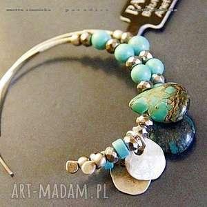 handmade kolczyki srebro, kolczyki w pastelach turkusów