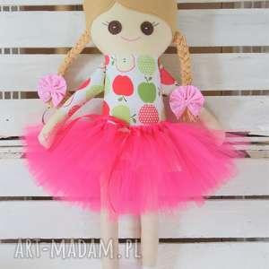 hand-made lalki szmacianka z personalizacją, wzór jabłuszka