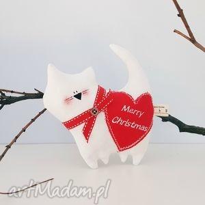 dekoracje ozdobny kotek tilda merry christmas, merry, dekoracja, bombki