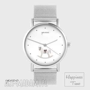 Prezent Zegarek, bransoletka - Konik na biegunach metalowy, zegarek,